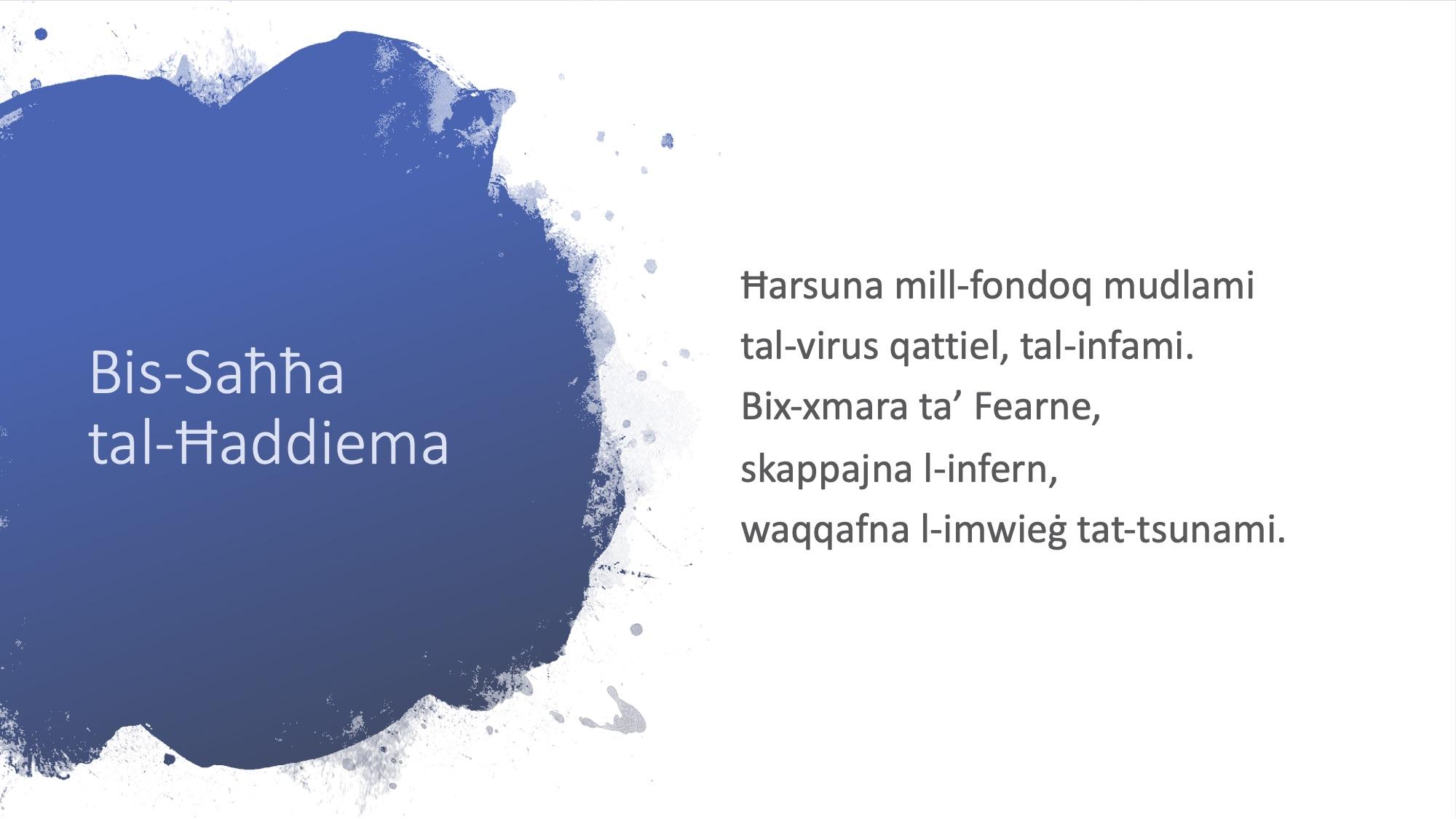 Il-Limerikki tal-Covid-19 - Bis-Saħħa tal-Ħaddiema - 2
