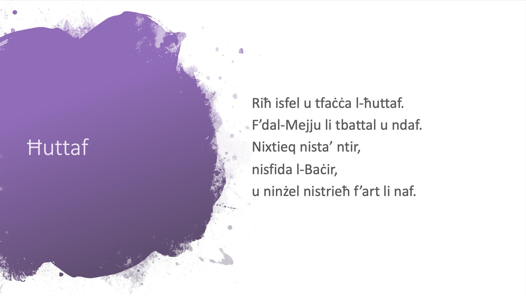 Il-Limerikki tal-Covid-19 - Ħuttaf - 2