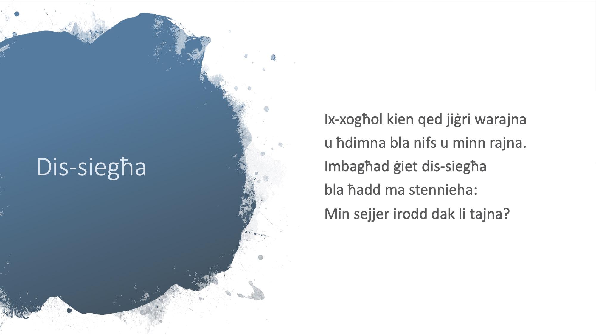 Il-Limerikki tal-Covid-19 - Dis-Siegħa 2