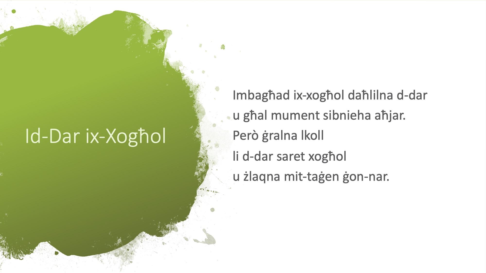 Il-Limerikki tal-Covid-19 - Id-Dar ix-Xogħol - 2