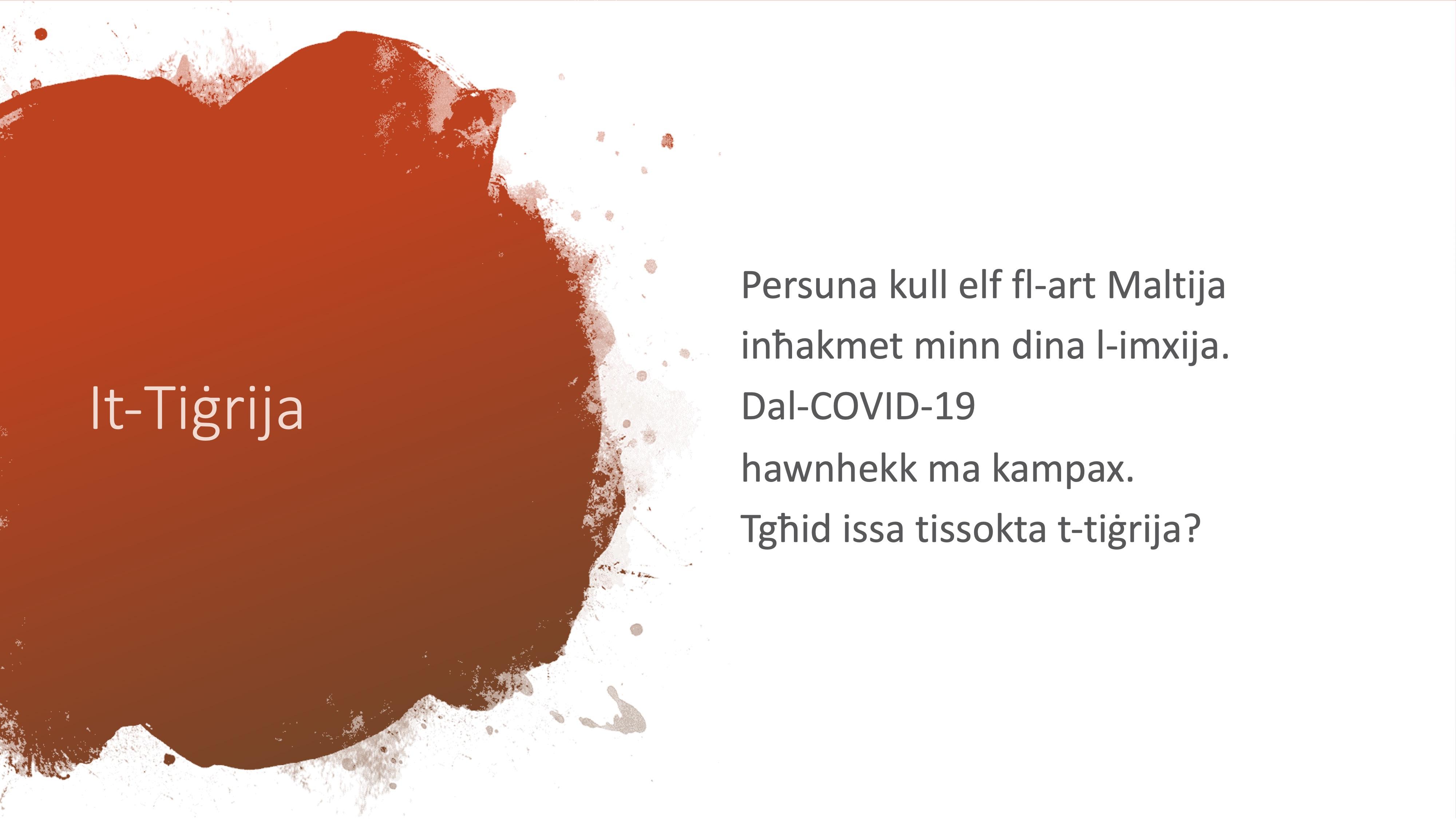 Il-Limerikki tal-Covid-19 - It-Tiġrija - 2