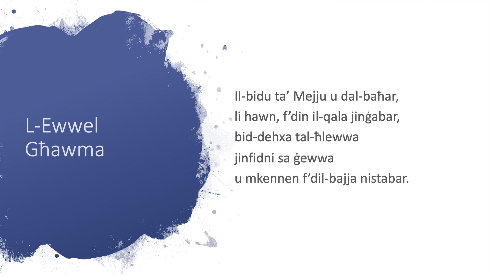Il-Limerikki tal-Covid-19 - L-Ewwel Għawma - 2